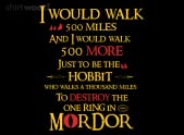 Hobbit Will Walk 500 Miles