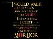 Hobbit Will Walk 500 Miles