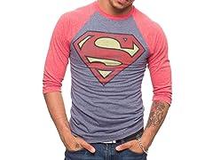 Superman Vintage Logo Triblend Raglan