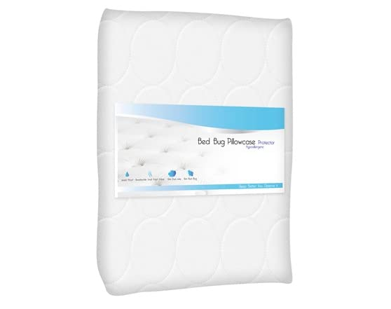 Cotton bed bug and dust mite pillow protector for Best dust mite pillow protectors