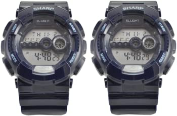 2-Pack Sharp SHP8917 Digital Sport Watch with EL Backlight