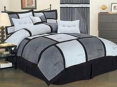 Dareen 7pc Comforter Set - Gray - 2 Sizes