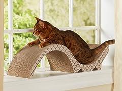 Catalina Cardboard Cat Scratcher - Taupe