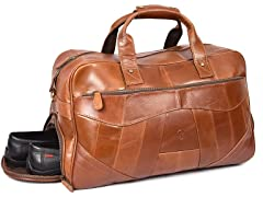 Leather Travel Duffle Bag (Hickory)