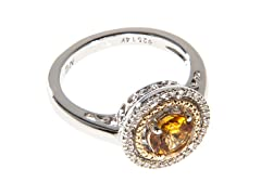 Silver & 14k Gold Citrine Ring