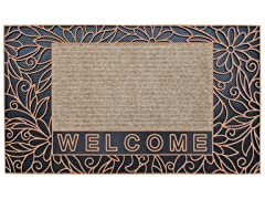 Bouquet Bronze Door Mat