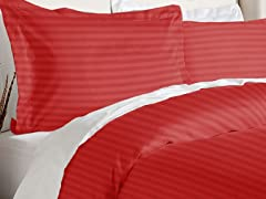 Duvet Cover Set-Burgundy-2 Sizes
