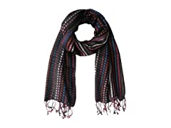 Kitara  Multi-Colored Square Block Scarf Multi