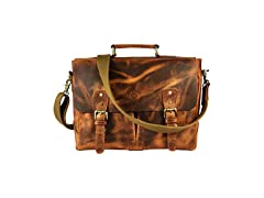 Aaron Leather Messenger Bag, 14.5""