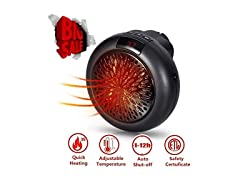 Bennoti 3411 Portable Plug In Heater Black