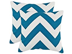 Zippy Aquarious 17x17 Pillows - S/2