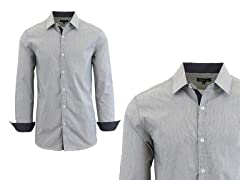 Men's LS Micro Pinstripe Dress Shirt