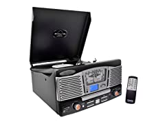 Retro Style Turntable with AM/FM Radio & USB/SD