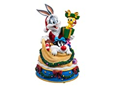 Bugs and Friends in Santa's Toy Bag Music Box