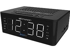 Emerson SmartSet Clock Radio, Speaker & Charging Station