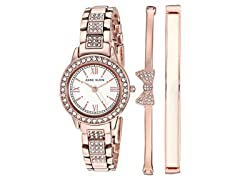 Anne Klein RoseGoldTone Watch&Bangle Set