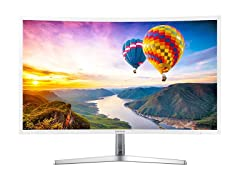 "Samsung 32"" Curved Full-HD LED Monitor - White"