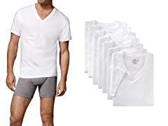 Hanes Men's  V-Neck Undershirts 7-Pack