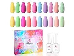 Nail Gel Polish Kit, Bright Color
