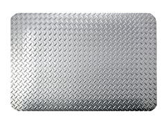 5' Dry Area Diamond Mat, Silver Metallic