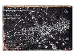 Town of Boston Map 1722 (4 Sizes)
