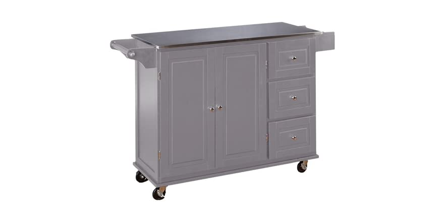 TMS Grey 3 Drawer Kitchen Cart