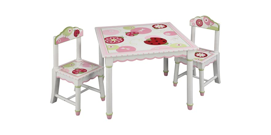 Hand Painted Table Chairs Kids Toys