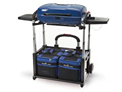 Portable Grill and Cart Combo  - Blue