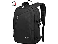 "Raydem 15.6"" RFID Laptop Backpack, Black"