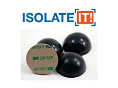 Isolate It 1.5 inch Hemisphere Rubber with Adhesive