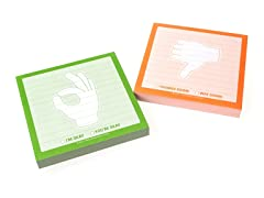 Thumb Up / Thumbs Down Sticky Notes (12pk)