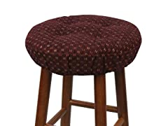 "Gripper® 14"" Barstool Covers-Twinlakes-Cordovan S/2"