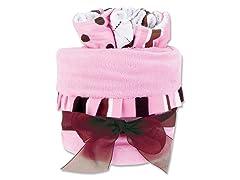 Maya Stripe 4-Pc Blanket & Bib Gift Cake