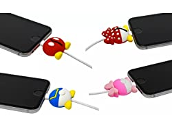 Deals on 4-Pack iPhone & Android Cable Protectors Disney Biters