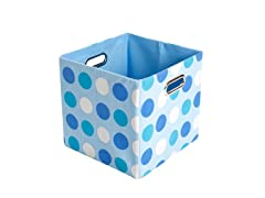 Sky Dots Canvas Folding Storage Bin