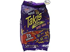 Mini Takis Fuego, 125 Bags (1.2 Oz Each)