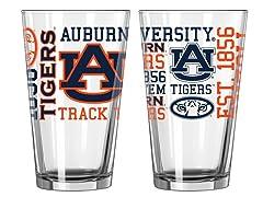 Auburn Spirit Pint Glasses (2)