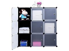 Songmics Modular Plastic Cube Organizer