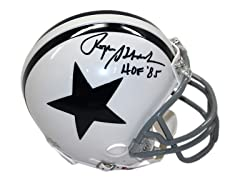 Roger Staubach Signed Cowboys Mini Helm