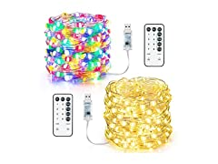 MAXvolador USB LED String Lights, 2-Pack