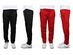 Men 2PK Classic Open Bottom Fleece Sweatpants