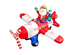 8' Santa in Plane