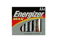 Energizer Max AA Alkaline Batteries - 4 Pack