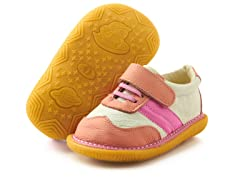 Squeaker Tennis Shoe - Pink & White