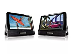"Philips 9"" Dual Screen Portable DVD Player"