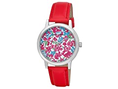Laura Ashley Ladies Flower Print Watch