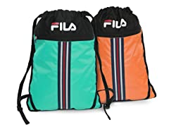 Fila Turquoise & Orange X2 Sackpack 2pk