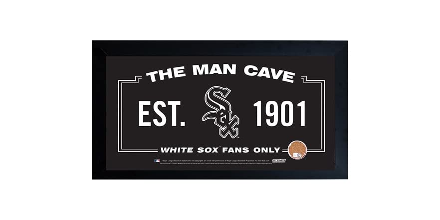 Man Cave Signs Sports : Framed man cave sign w game dirt