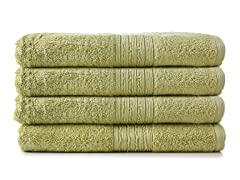 Terrytex 4pc Cotton Towel Set - Sage