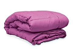 Embossed Microfiber Comforter Purple - 3 Sizes